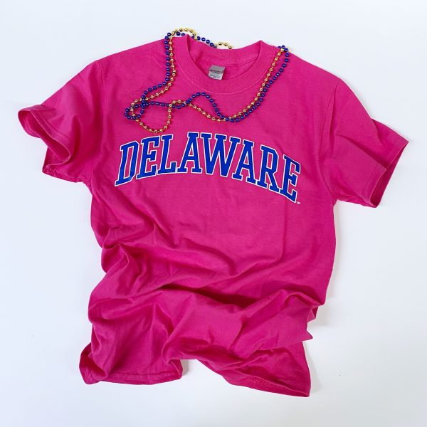 University of Delaware Arched Delaware T-shirt - Azalea