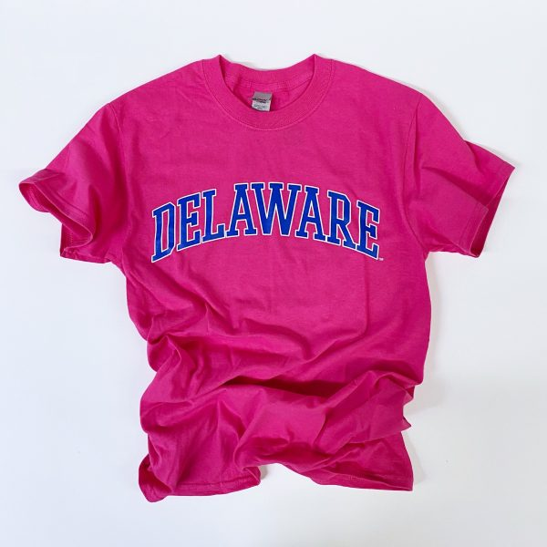 University of Delaware Arched Delaware T-shirt - Azalea Pink
