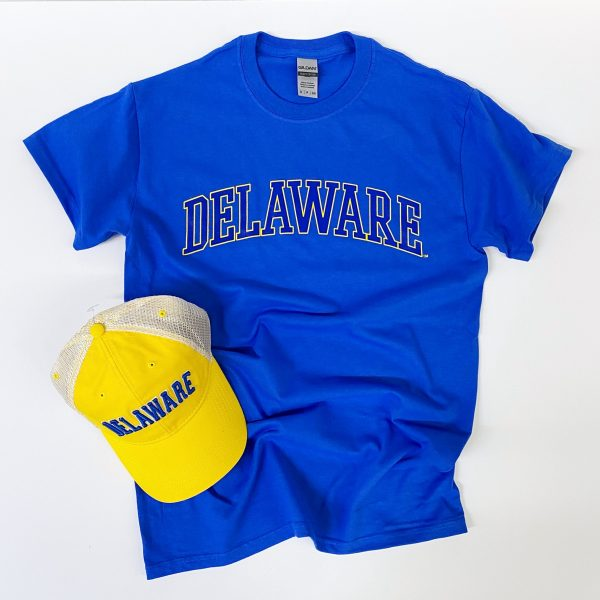 University of Delaware Arched Delaware T-shirt - Royal Blue