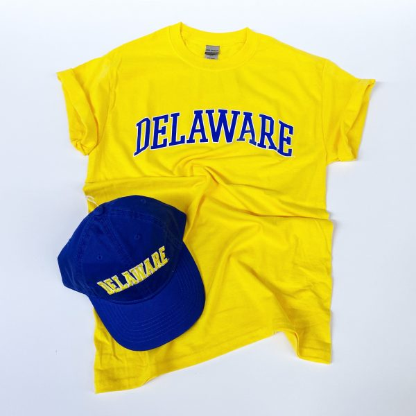 University of Delaware Arched Delaware T-shirt - yellow