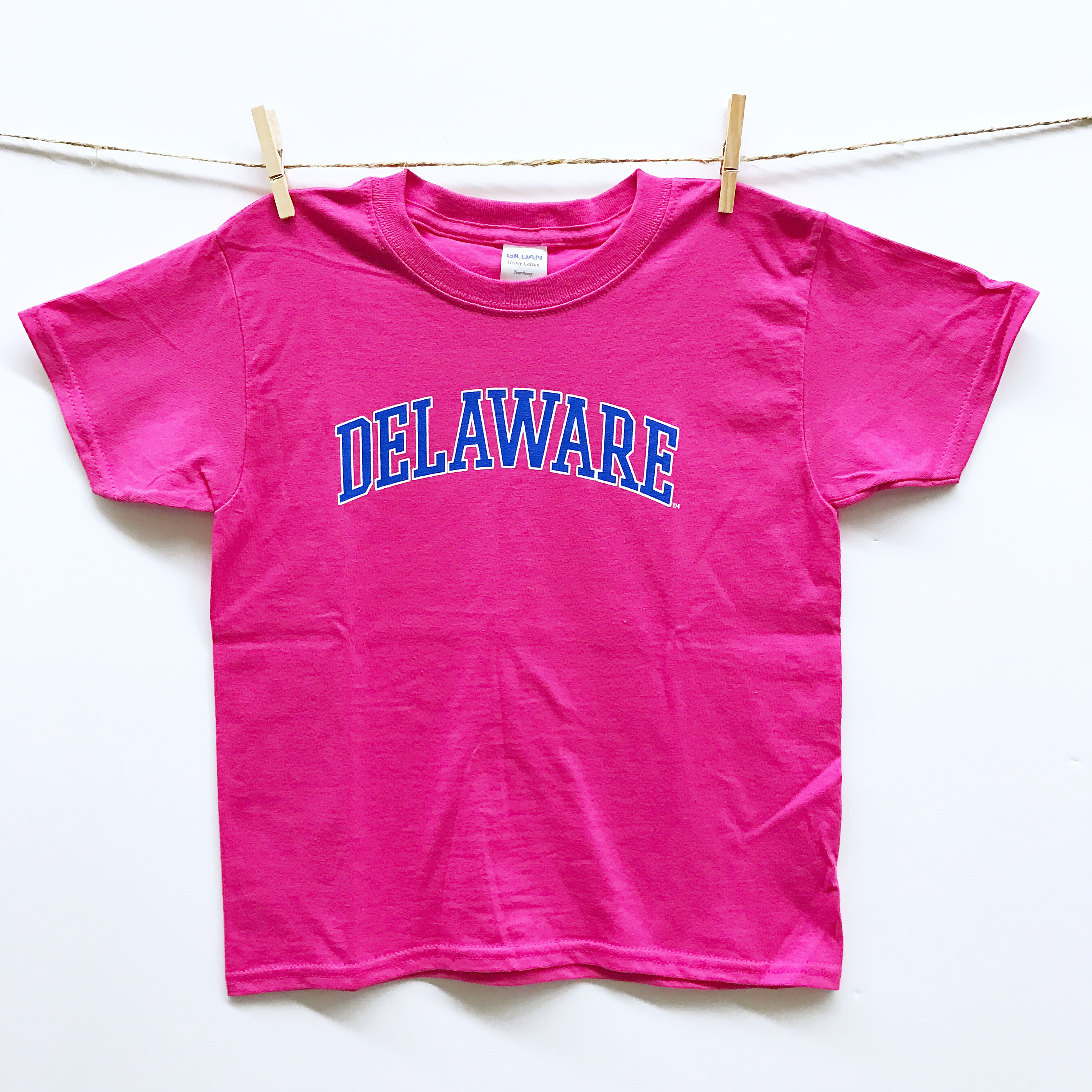 0158ada85 University of Delaware Youth Arched Delaware T-shirt – Pink ...