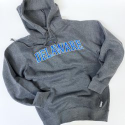 University of Delaware Arched Delaware Hoodie - Charcoal