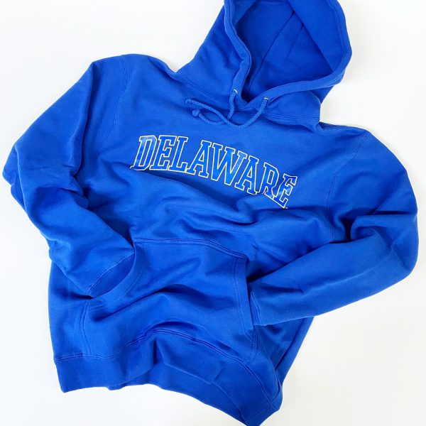University of Delaware Arched Delaware Hoodie Sweatshirt - Royal Blue