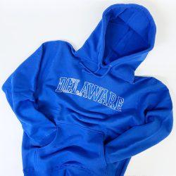 University of Delaware Arched Delaware Hoodie Sweatshirt - Royal Blue