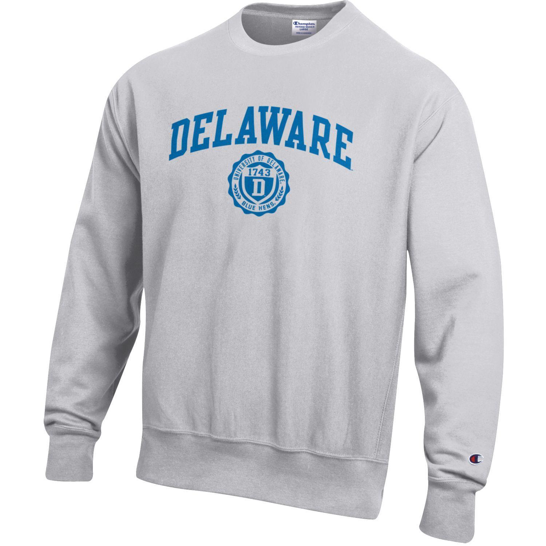 ef77d8a9 University of Delaware Champion Reverse Weave Collegiate Crewneck Sweatshirt