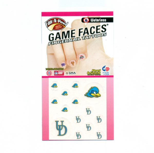 University of Delaware YoUDee Fingernail Tattoos