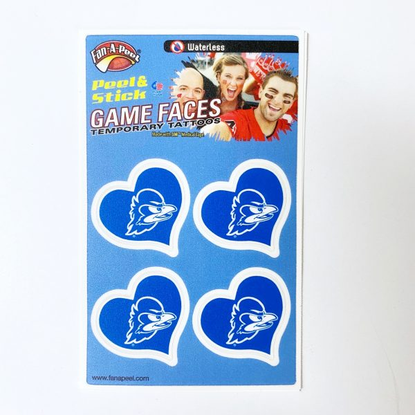 University of Delaware YoUDee Heart Temporary Tattoos