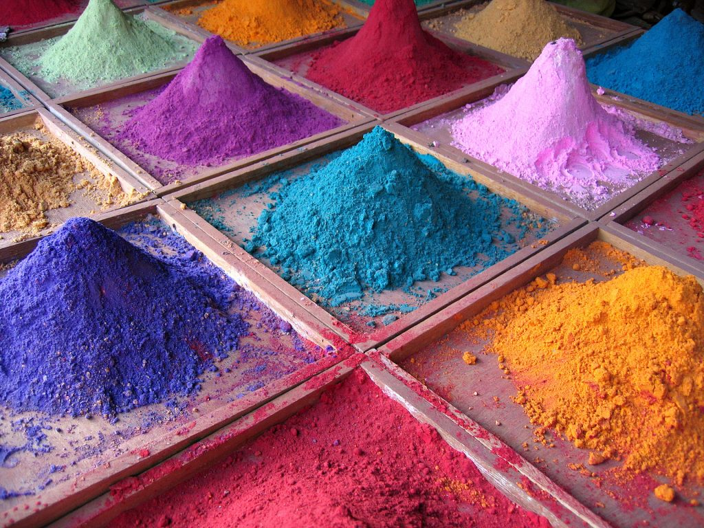 Powdered pigment dyes