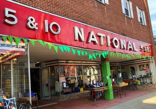 Lyme Awareness Yarnbomb National 5 & 10 Newark Delaware 2