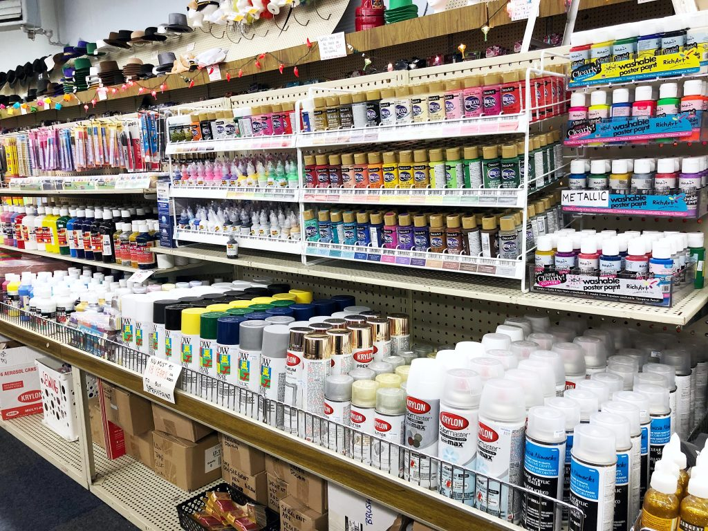 The art department at National 5 & 10 has everything you need to paint your cooler.