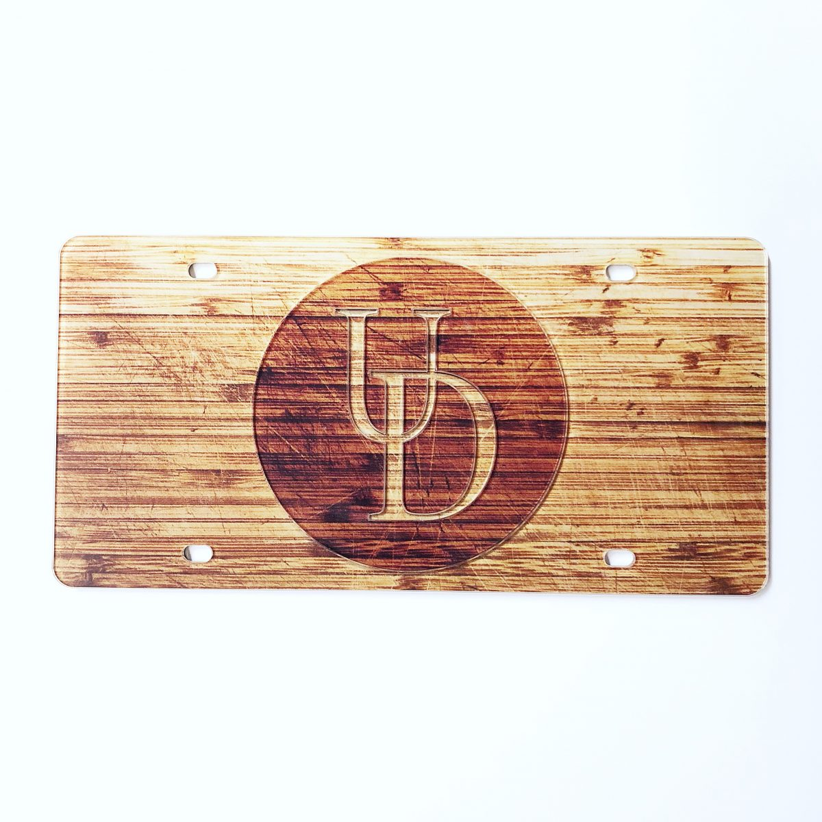 University Of Delaware Wood Grain License Plate National