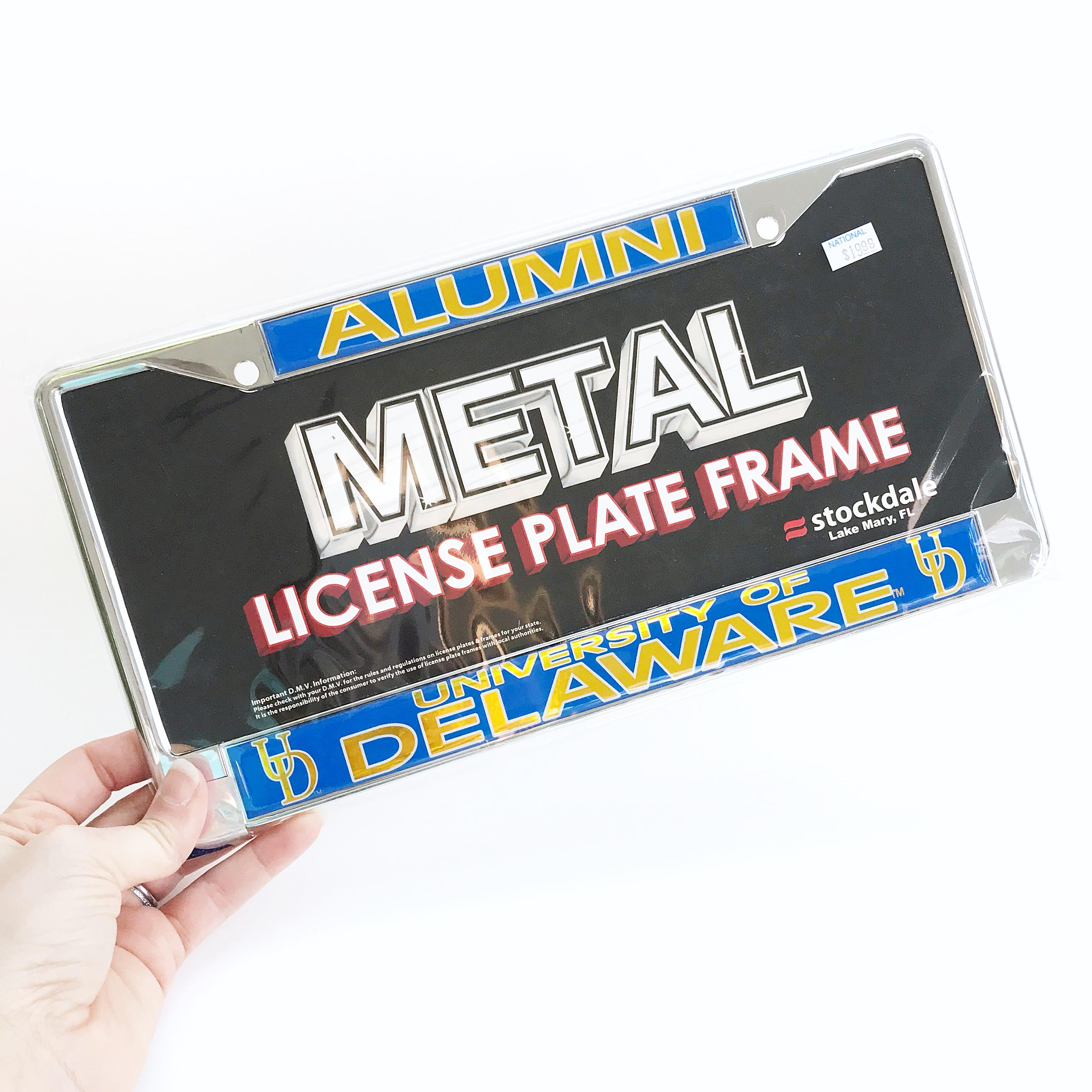 Old Fashioned Alumni License Plate Frame Mold - Framed Art Ideas ...