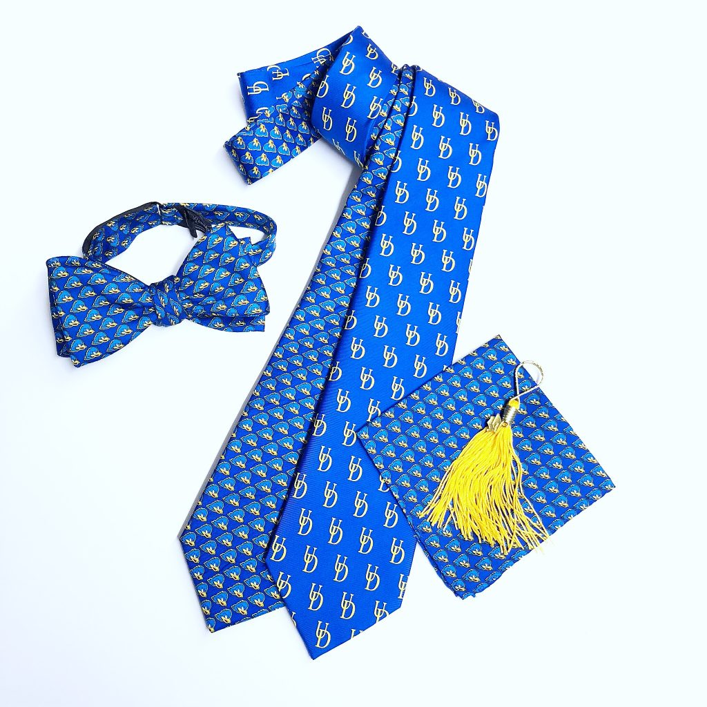 University of Delaware silk ties, bow ties and pocket squares