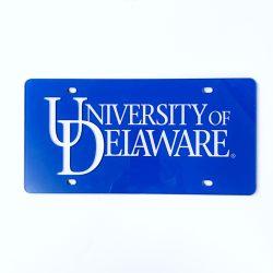 University of Delaware Word Mark License Plate
