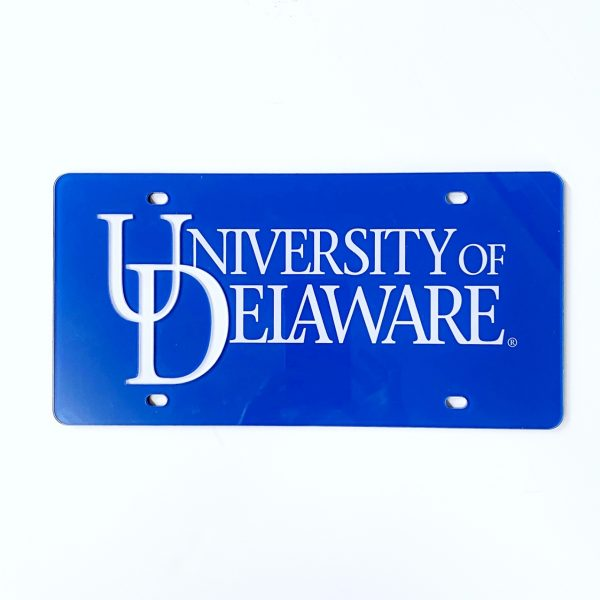 University of Delaware Word Mark License Plate