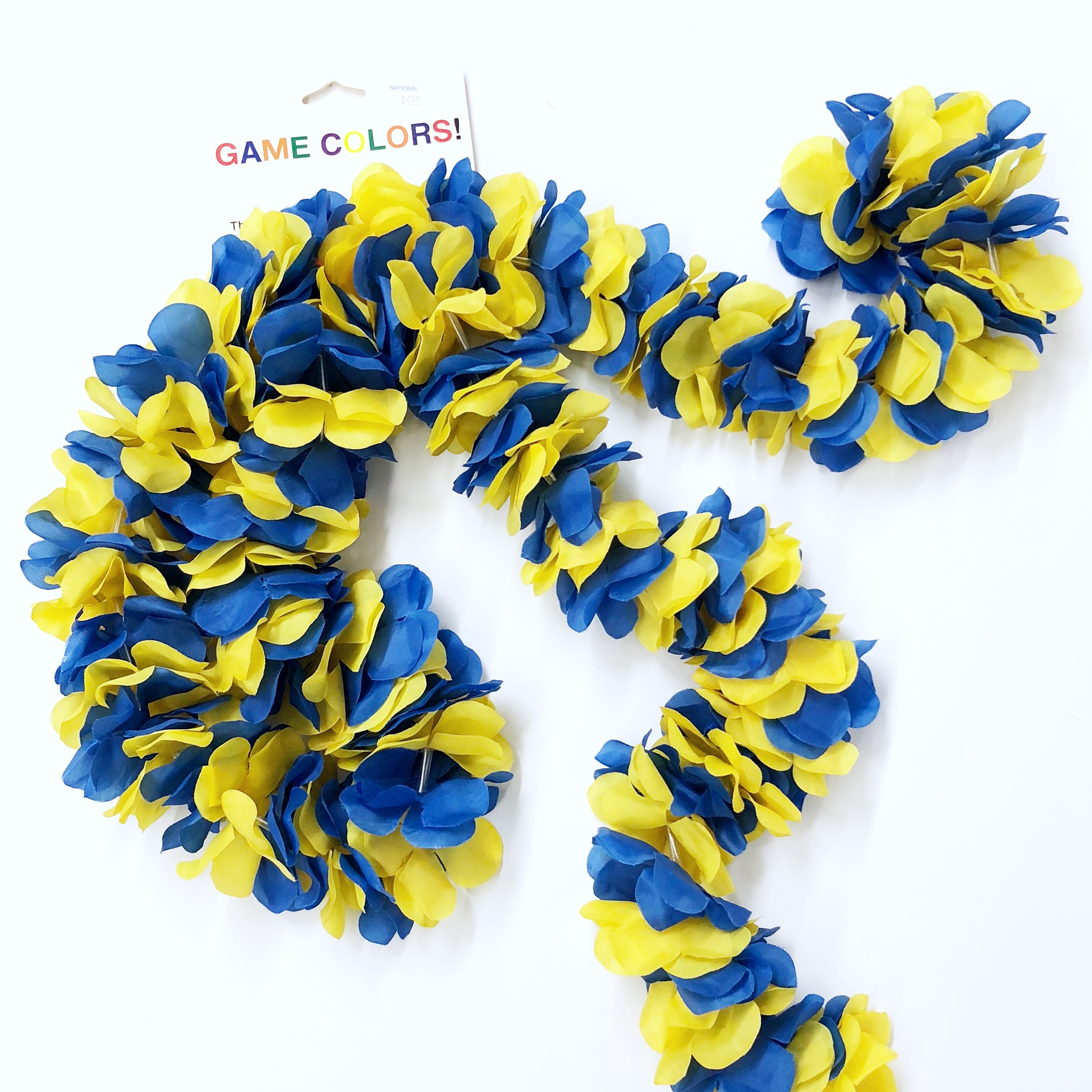 University Of Delaware Blue And Yellow Flower Garland National 5