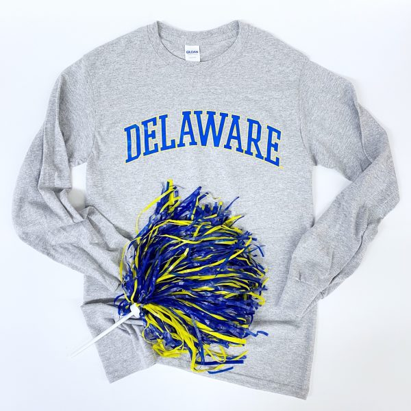 University of Delaware Long Sleeve Arched Delaware T-shirt - Oxford