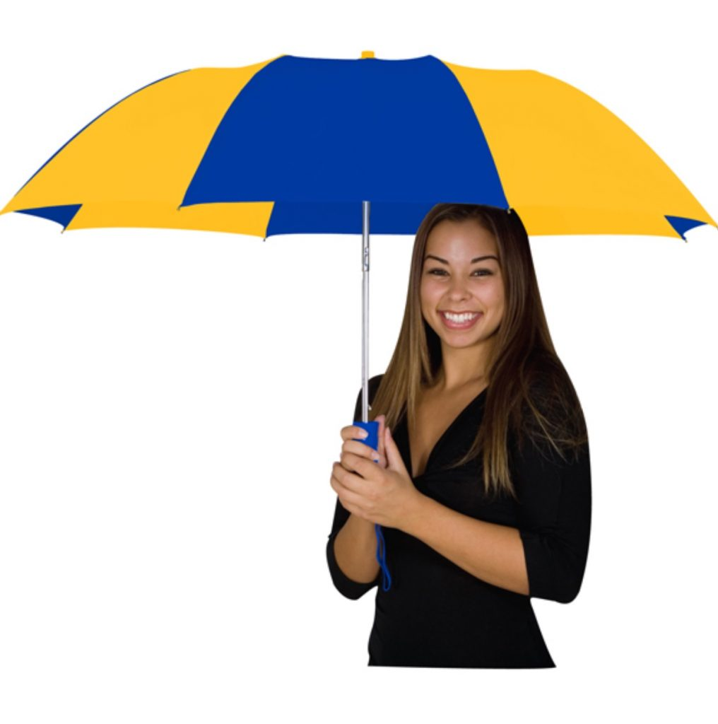 "Blue and Yellow 48"" Automatic Umbrella"