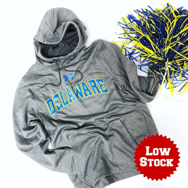 University of Delaware Under Armour Performance Fleece Hoodie Sweatshirt - Carbon