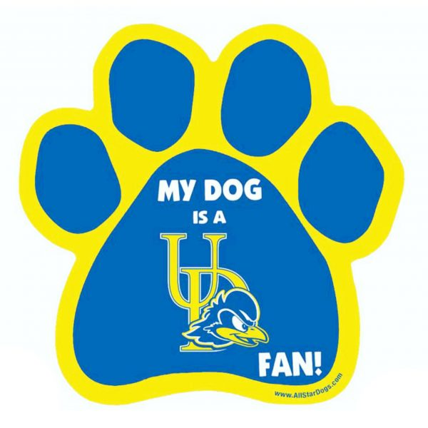 University of Delaware Dog Paw Car Magnet