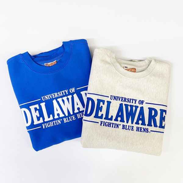 University of Delaware MV Tackle Twill Crewneck Sweatshirts