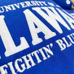 Detail of University of Delaware MV Tackle Twill Sweatshirt