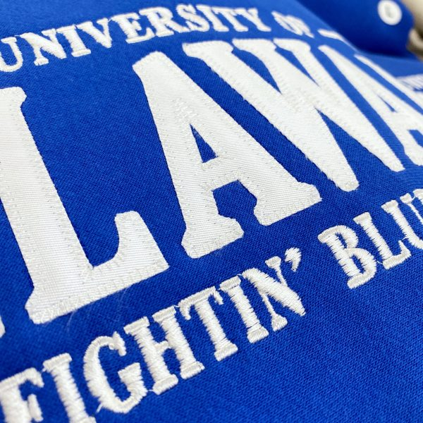 Detail of University of Delaware MV Tackle Twill Sweatshirt