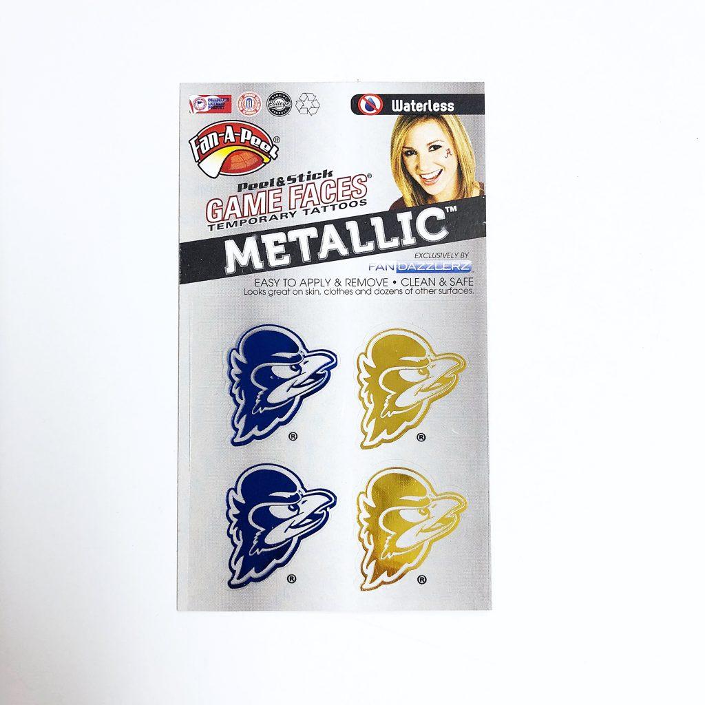 University of Delaware Metallic YoUDee Temporary Tattoos