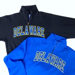 University of Delaware Tackle Twill Arched Delaware 1/4-Zip Sweatshirts