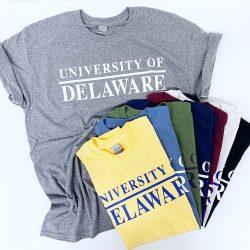 University of Delaware Skittles Short Sleeve T-shirts - Darks