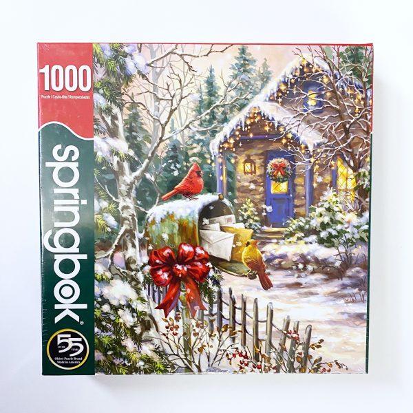 Cardinal Cottage 1000 Piece Springbok Christmas Puzzle