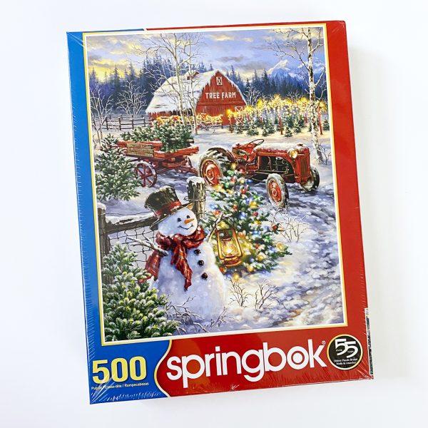 Christmas Tree Farm 500 Piece Springbok Puzzle