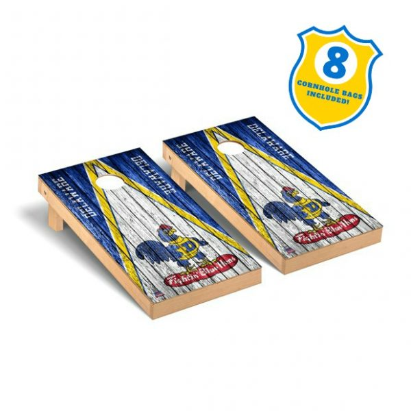 University of Delaware 2' x 4' Premium Weathered Retro Cornhole Set