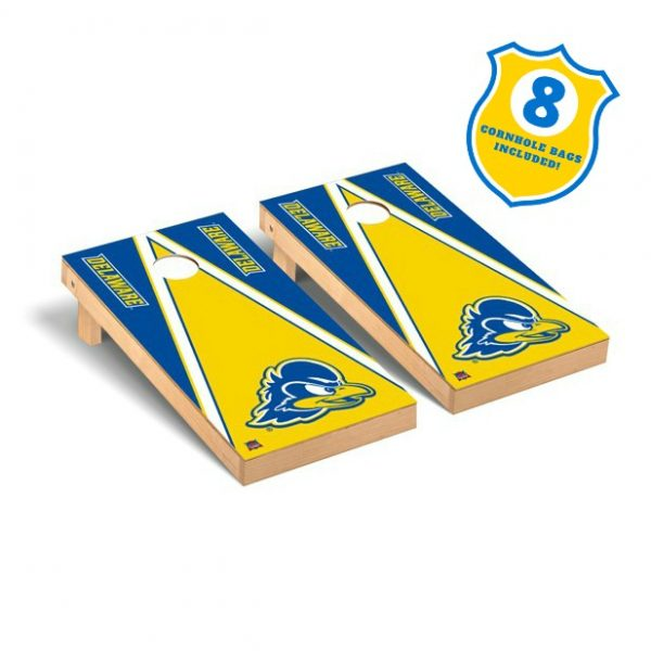 University of Delaware 2' x 4' Premium Yellow Triangle Cornhole Set