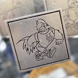 University of Delaware Pewter Hitch Cover