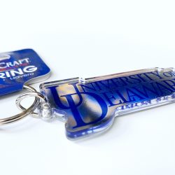 University of Delaware Word Mark Mirror Key Chain