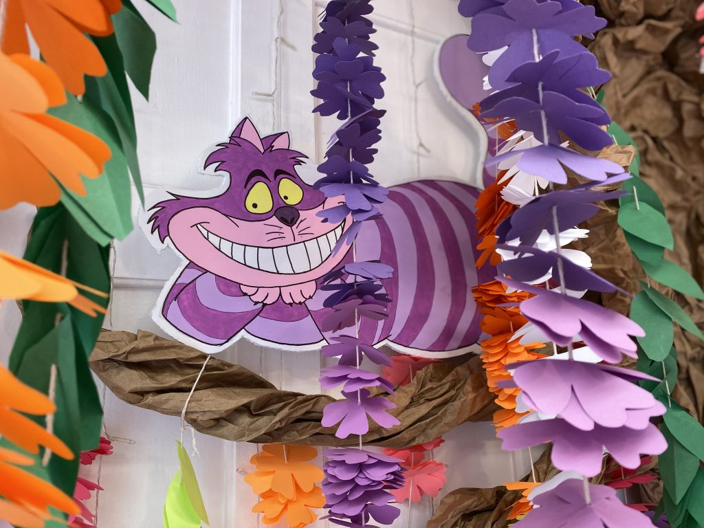 Hand-painted Cheshire Cat in Tree