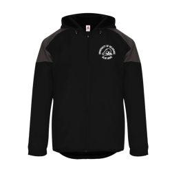 University of Delaware Black Hooded Windbreaker