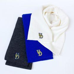 University of Delaware Embroidered Interlocking UD Knit Scarves