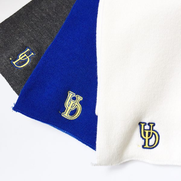 University of Delaware Embroidered Interlocking UD Knit Scarves