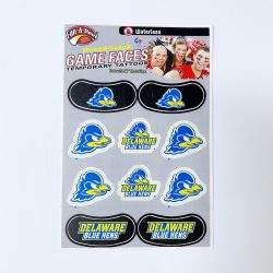 University of Delaware Temporary Tattoo and Eye Strip Combo Pack