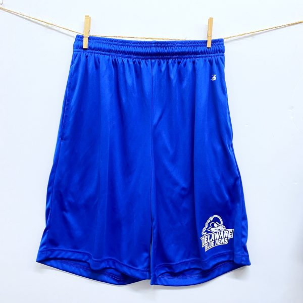University of Delaware Men's Badger Athletic Shorts with Pockets - Royal